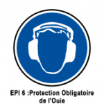 EPI6 Protection obligatoire de l'ouie