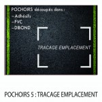 POCHOIRS 5 TRACAGE EMPLACEMENT